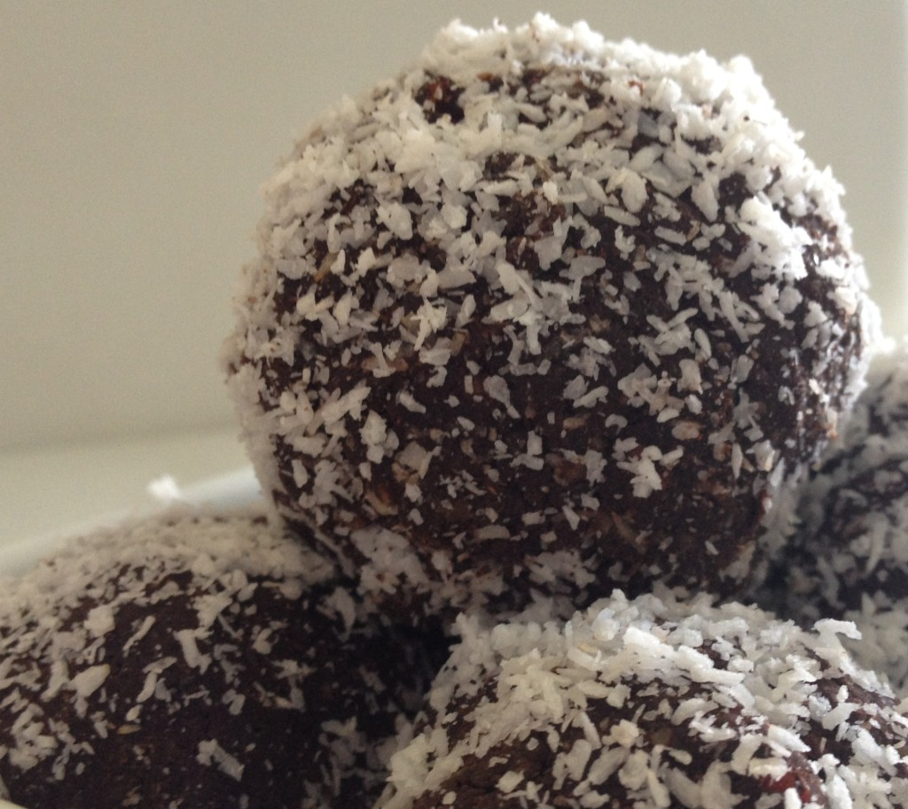 and they're done! No Bake Sugar Free Chocolate Superfood Truffles
