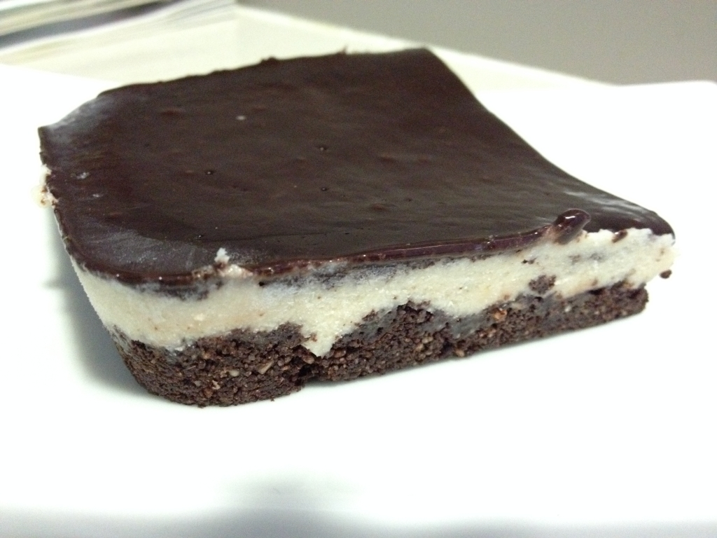No bake Mint Slice Straight from the freezer...eat your heart out Arnott's Biscuits :P